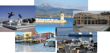 A Collage of images from Corinth, Greece